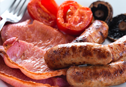 Sizzling Sausages & Bacon