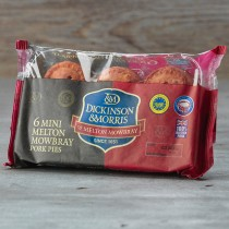 6 pack mini Melton Mowbray Pork Pie